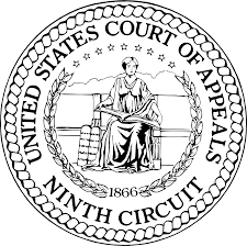 image is a formal seal of the united states court of appeals ninth circuit with a women holding some hard to see object. This is the official seal. Daniel Horowitz is admitted to practice and has won cases in the ninth circuit court of appeals