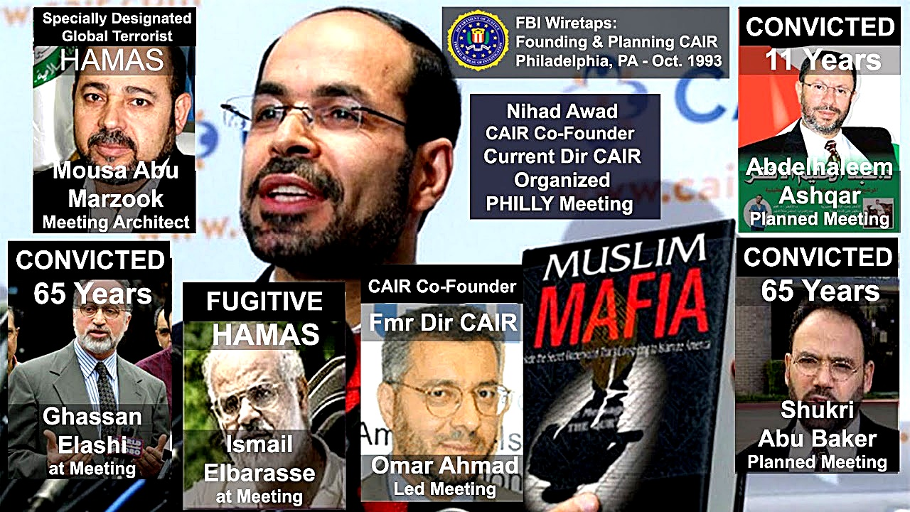 Images of CAIR and CAIR related persons and the Muslim Mafia book exposing them as members of hamas. Horowitz defends the first amendment and the journalists sued by CAIR